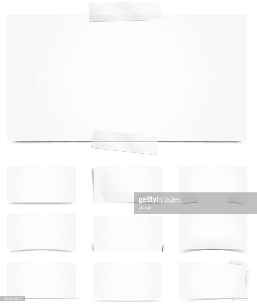 White template with shadows