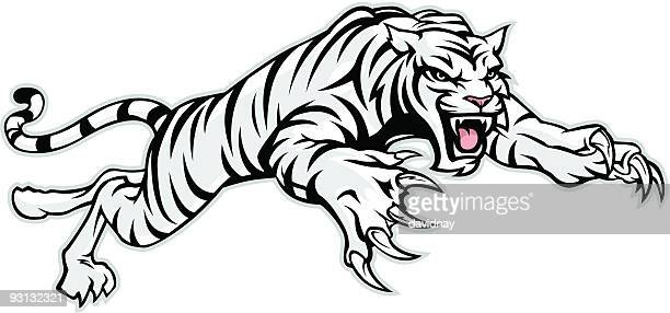 white tiger - animals charging stock illustrations, clip art, cartoons, & icons