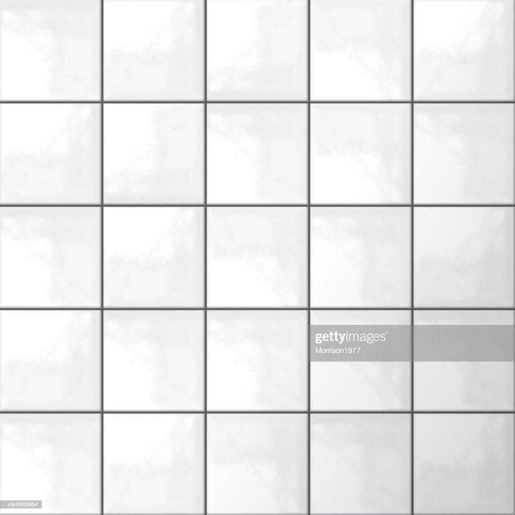 White tiles vector
