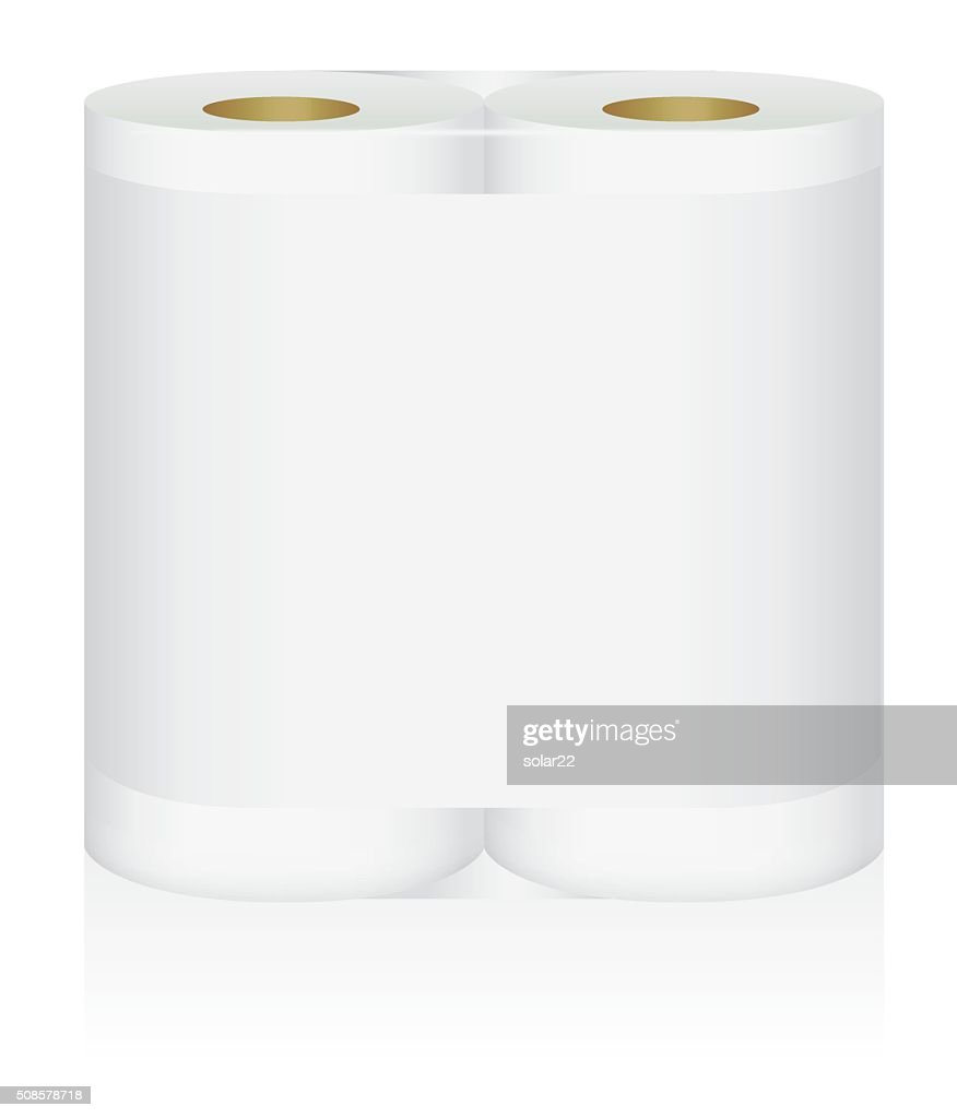 White tissue paper double roll in mock up package : Vectorkunst