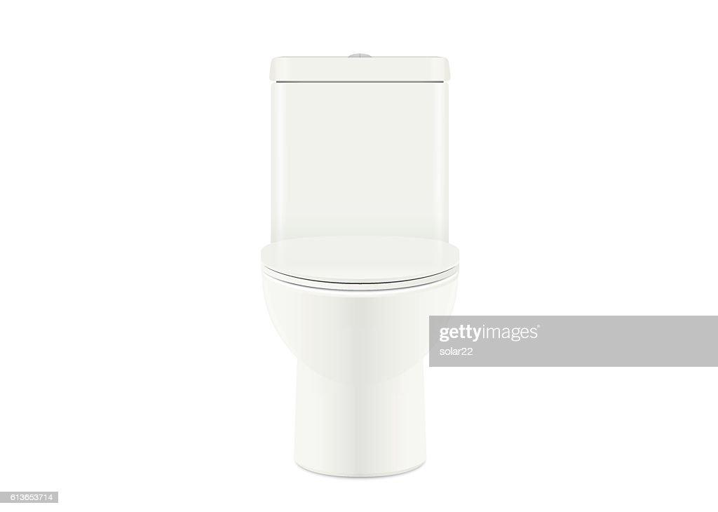 White toilet bowl open cover