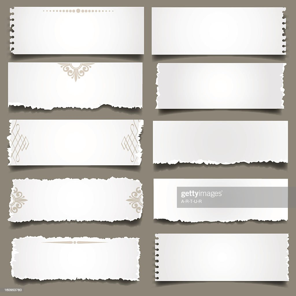 White torn Paper Notes