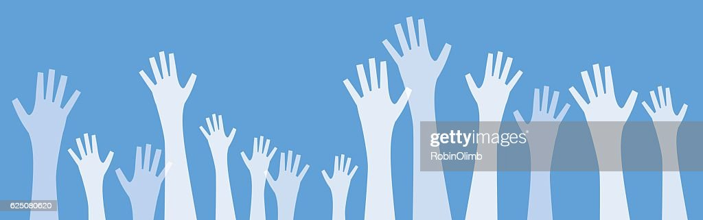 White Transparent Hands Reaching Up