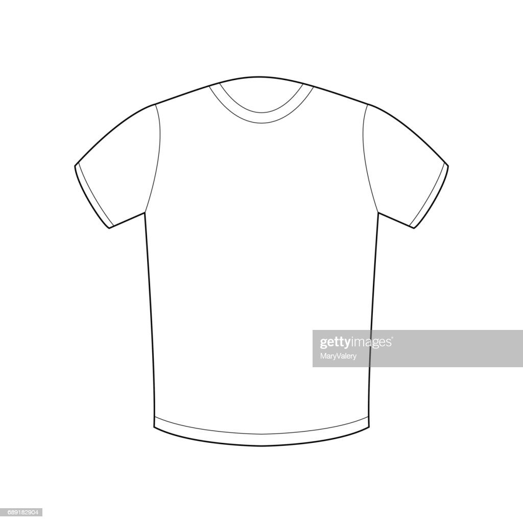 White Tshirt Template Isolated Sport Clothing On White Background