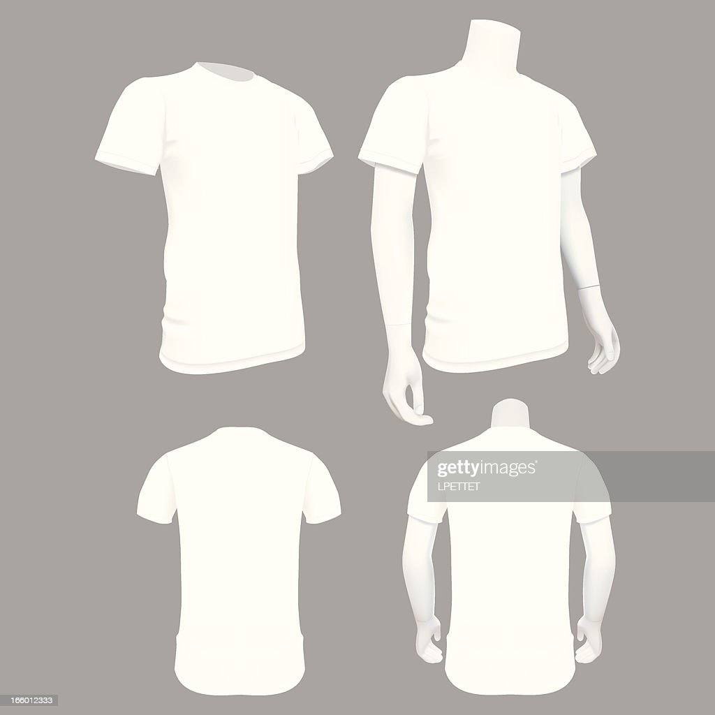 White Tshirt Template Vector Illustration Vector Art Getty Images