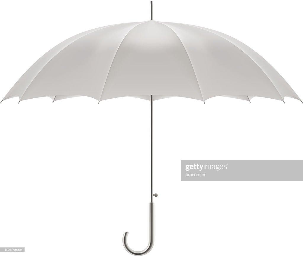 White umbrella : stock illustration