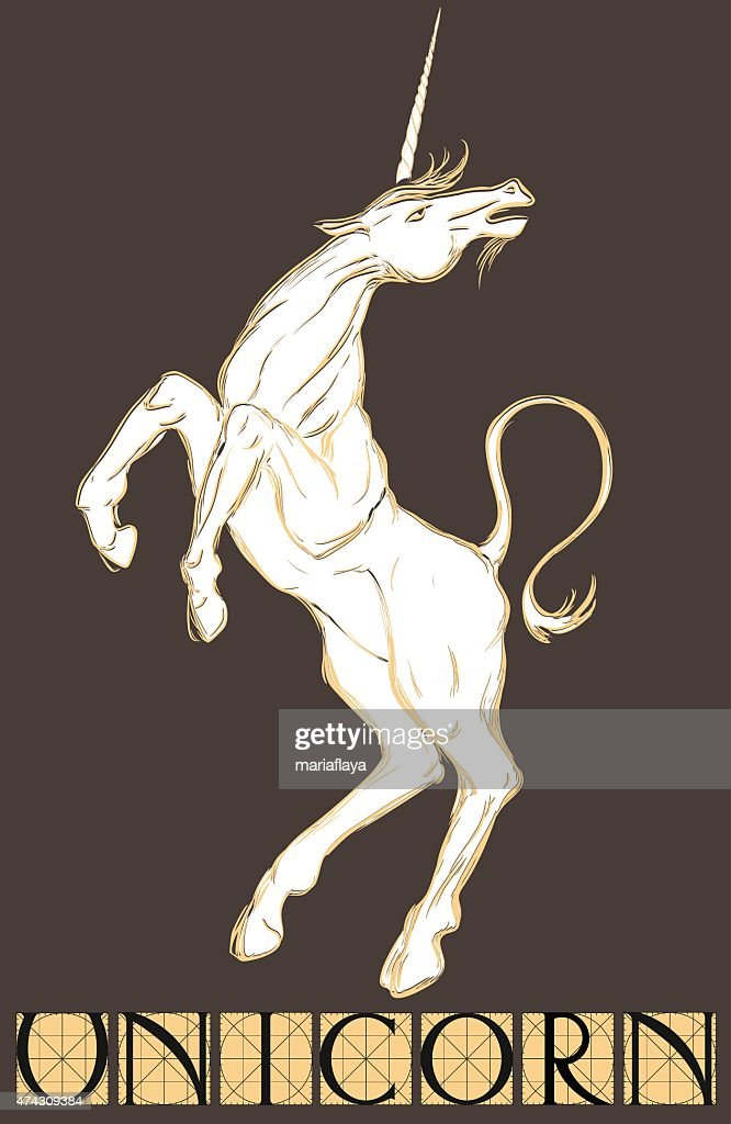 white unicorn with title
