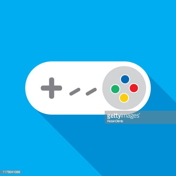 white video game controller icon - handheld video game stock illustrations