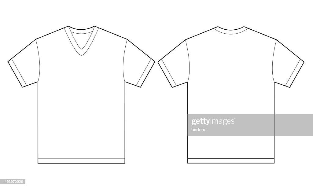 Weiße Vausschnitt Tshirtdesignvorlage Für Herren Vektorgrafik ...