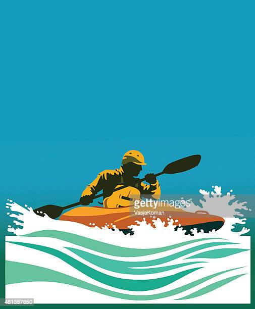 white water kayaking competition - rapid stock illustrations