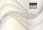 white wave abstract vector background graphic design