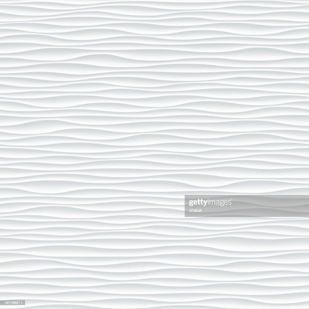 White wavy seamless texture. - Illustration