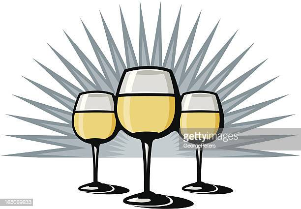 white wine - loire valley stock illustrations, clip art, cartoons, & icons