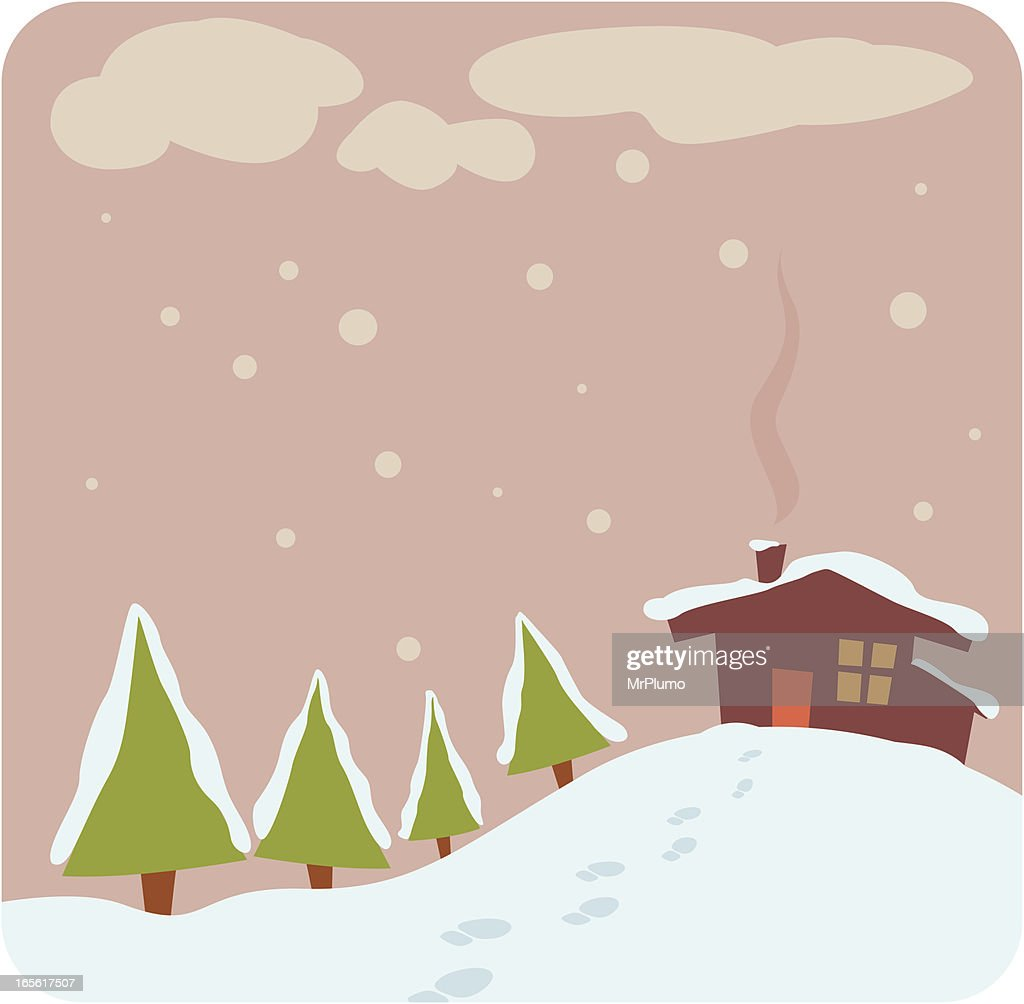 White winter scene