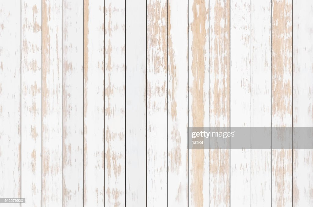 White wood plank texture background, vector