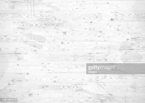 白い木製のボードグランジの背景 - 白塗りの木材点のイラスト素材/クリップアート素材/マンガ素材/アイコン素材