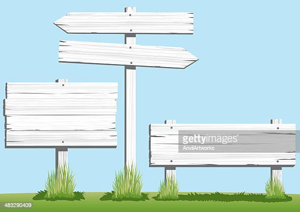 White Wooden Signs
