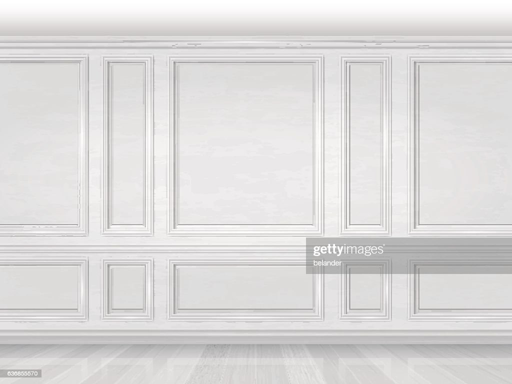 white wooden wall panel