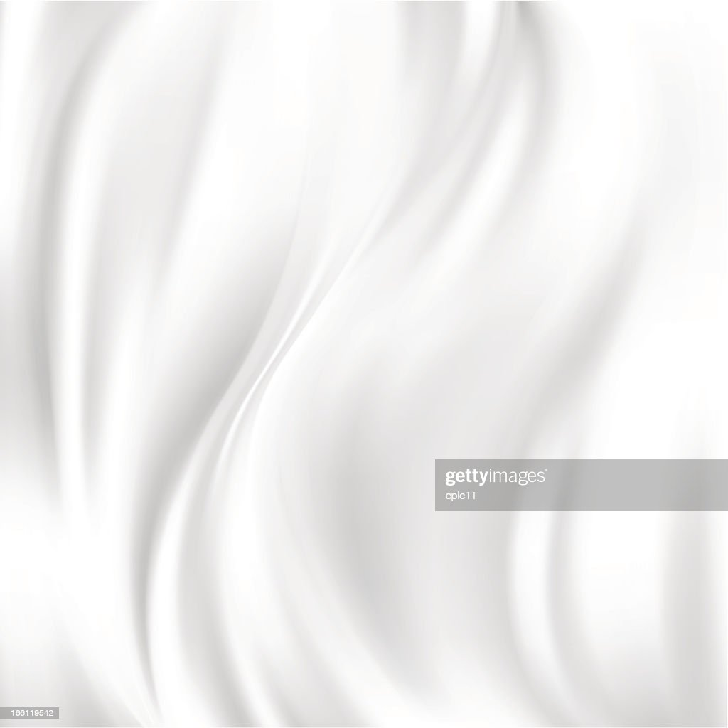 White wrinkled silk abstract vector texture