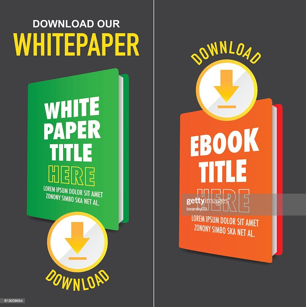 Whitepaper Graphics with Title, Cover, and Call to Action Buttons
