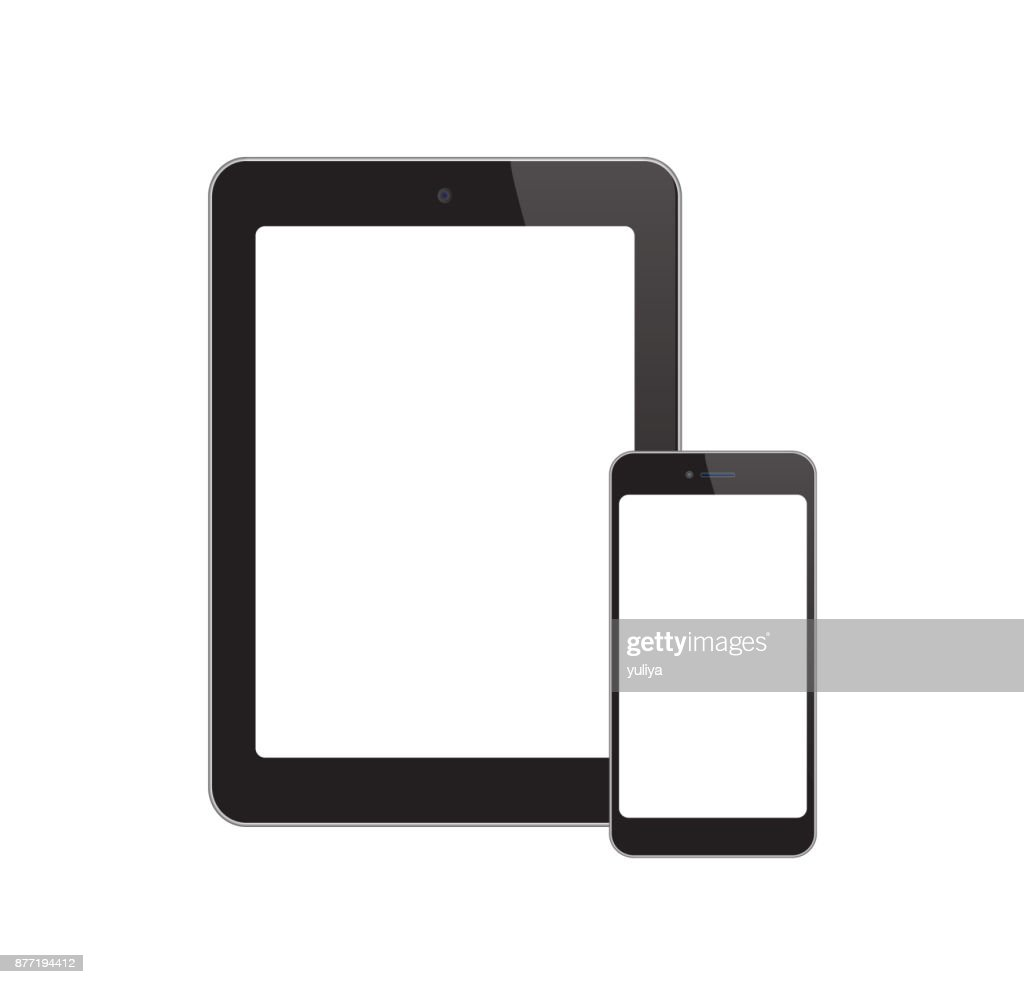 White-Screen-Phone-Tablet : stock illustration