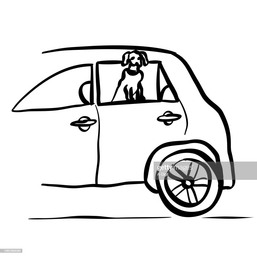 Whole Car To Myself Puppy : stock illustration