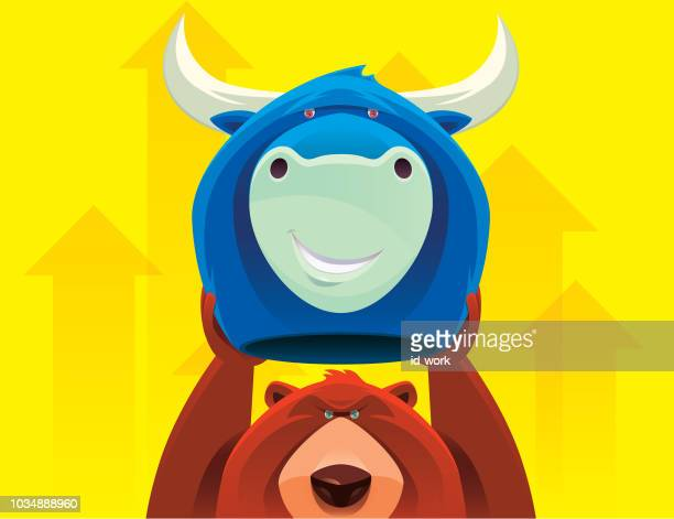邪悪な熊牛マスクを保持