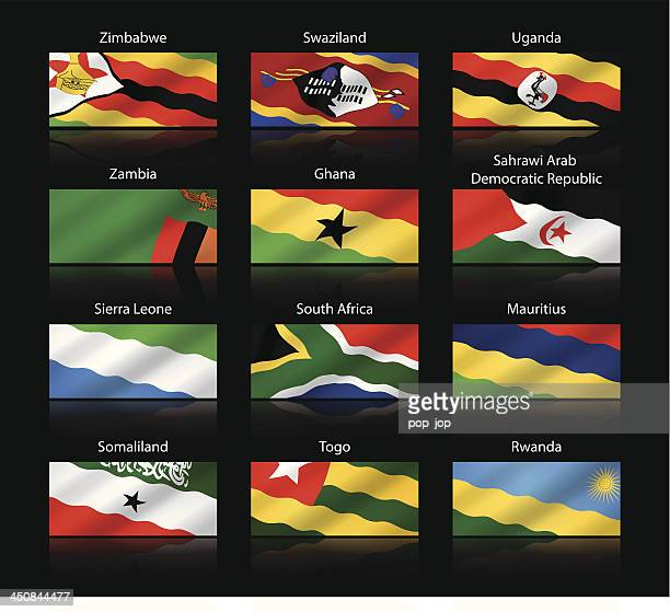 wide cropped flags - africa - ghana flag stock illustrations, clip art, cartoons, & icons