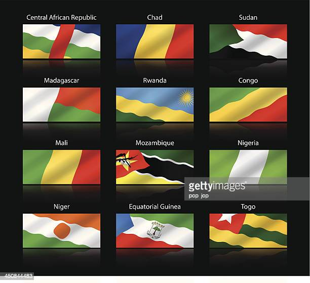 Wide cropped flags - Africa