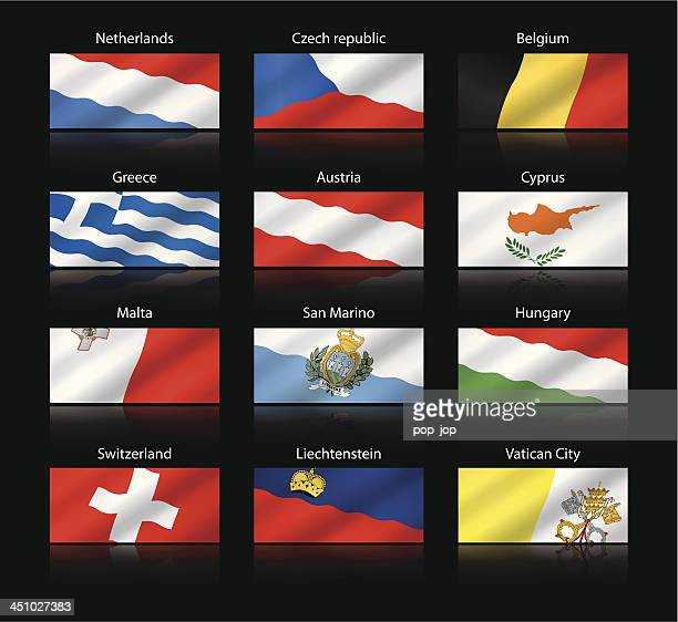 Wide cropped flags - Europe