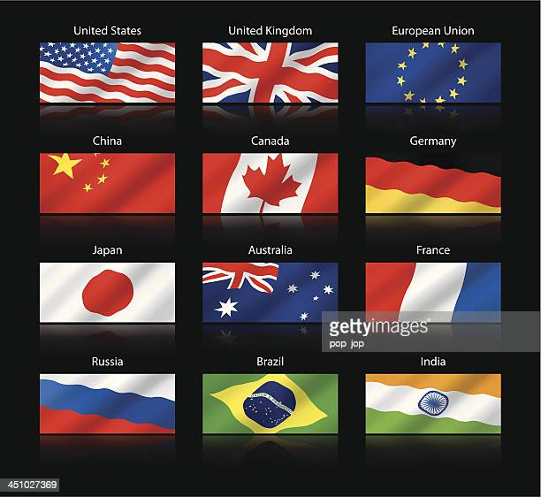 Wide cropped flags - Most popular