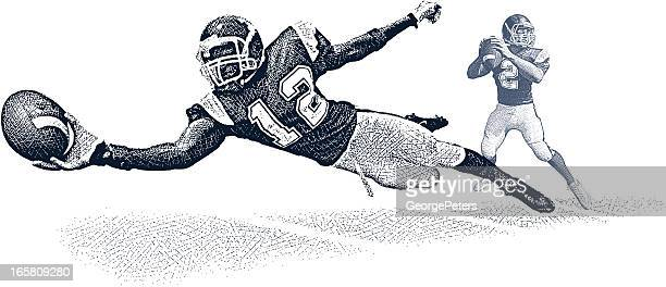 Wide Receiver Making Diving Catch
