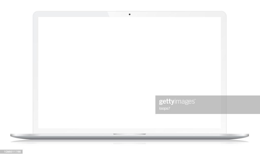 ホワイトのモダンなワイド スクリーン ノート : ストックイラストレーション