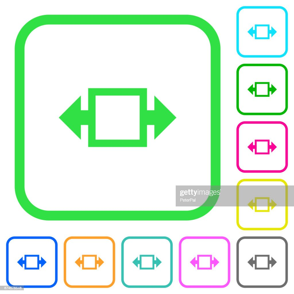 Width tool vivid colored flat icons icons