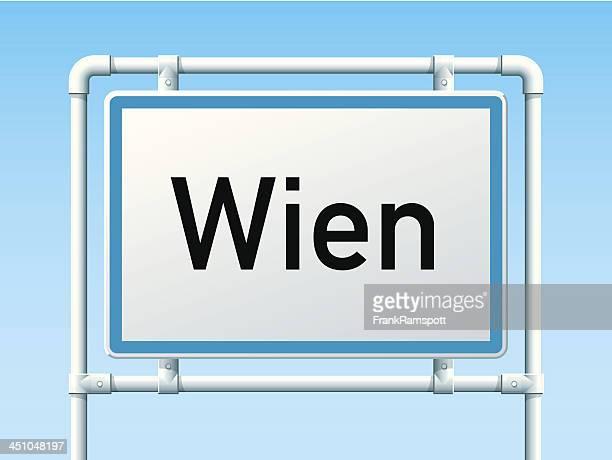 Wien-Österreich City Road Sign