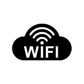 Wifi cloud internet icon – stock vector