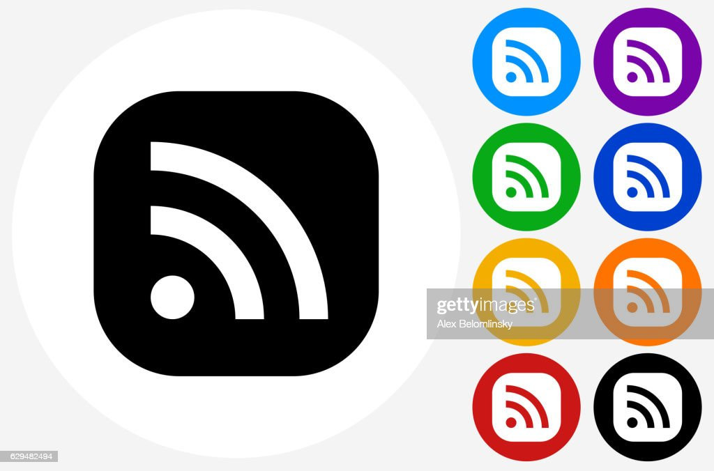 wifi icon on flat color circle buttons vector art getty images