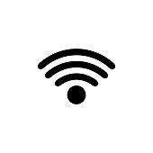 wi-fi icon on white background vector illustration