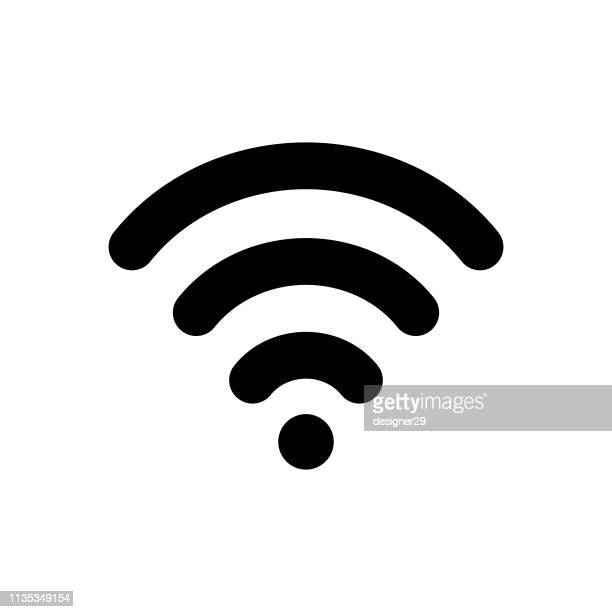 wifi icon. - podcasting stock illustrations, clip art, cartoons, & icons