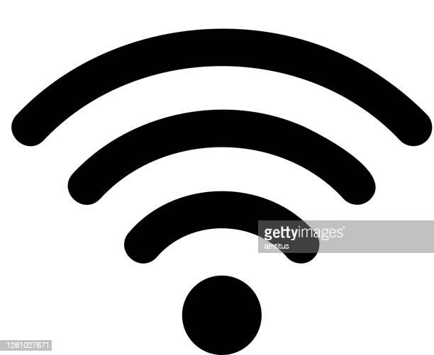 stockillustraties, clipart, cartoons en iconen met wifi-pictogram - draadloze technologie
