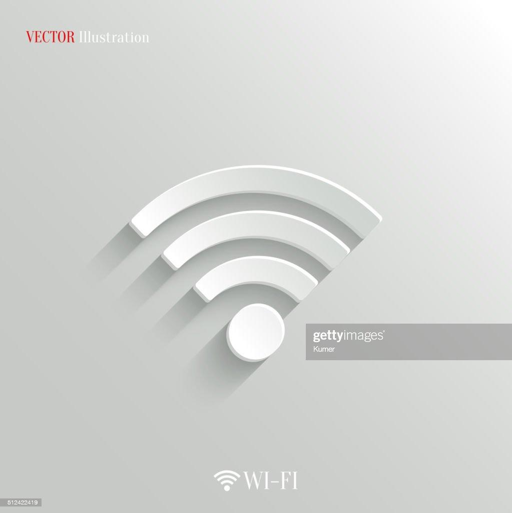 Wi-fi icon - vector white app button