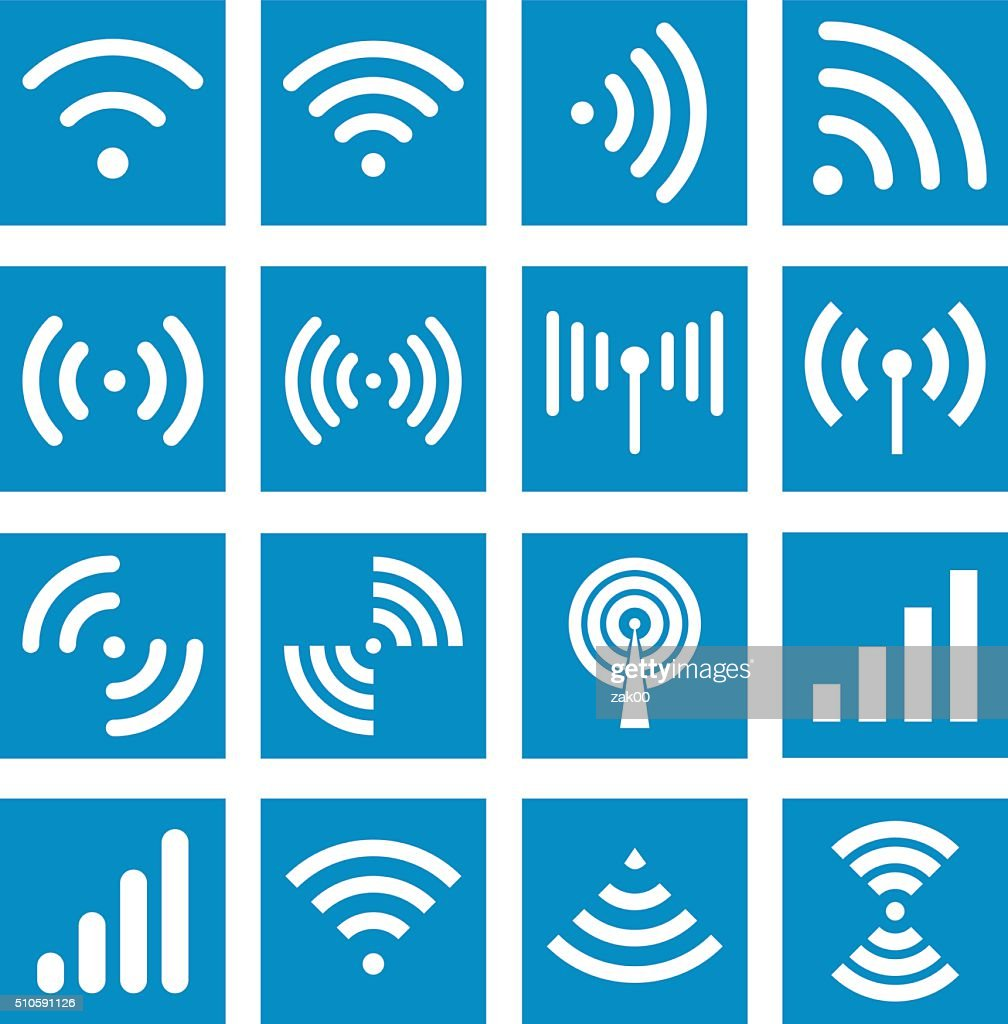 Wifi icons - Illustration