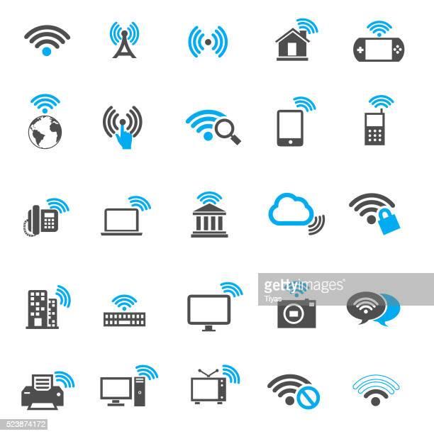 Ícones Wi-fi gratuito