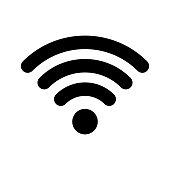 Wi-Fi internet icon. Vector wi fi wlan access, wireless wifi hotspot signal sign