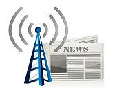 wifi news illustration design over white background