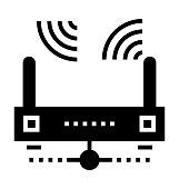 wifi router Glyphs Vector Icon
