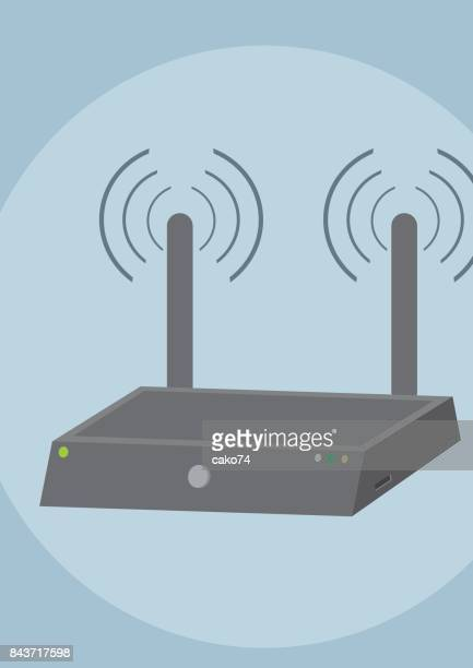 wi-fi router vector image - access control stock illustrations, clip art, cartoons, & icons