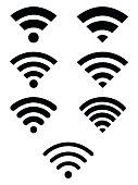 Wifi symbol icon set