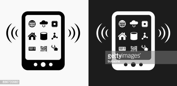 wi-fi tablet icon on black and white vector backgrounds - {{relatedsearchurl('county fair')}} stock illustrations, clip art, cartoons, & icons