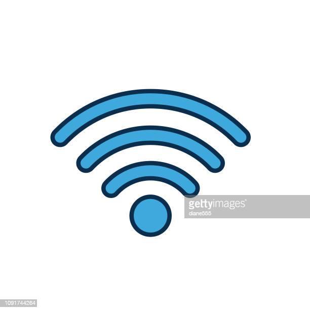 細い線のスタイルで wifi web ページ ユーザー インターフェイス アイコン - シンジケーション点のイラスト素材/クリップアート素材/マンガ素材/アイコン素材